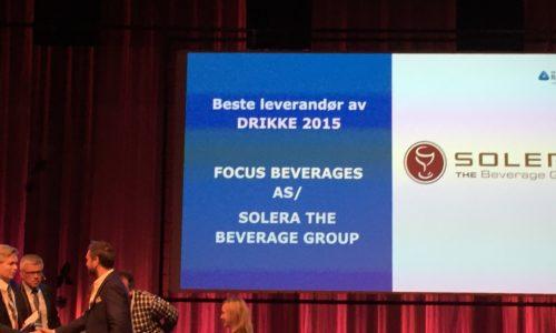 Beste leverandør av drikke 2015 til NHO Innkjøpskjeden